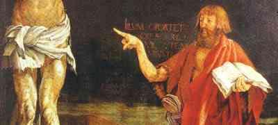 Der Finger von Johannes dem Täufer