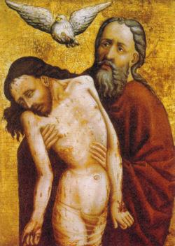 """Die Heilige Dreifaltigkeit (""""Not Gottes""""), um 1440"""